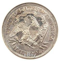 1870 Proof Demi-liberté Assis Dollar 50c Anacs Pr60 Détail (pf60) Rare Coin