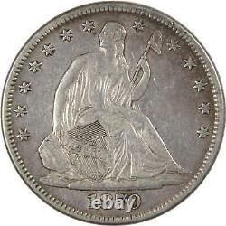 1870 Seated Liberty Half Dollar Xf Ef Extrêmement Fine 90% Argent 50c Us Type Coin