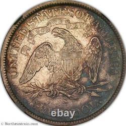 1871 S Seated Liberté Half Dollar Ngc Xf 45 Très Lustrée Avec La Couleur Excellente