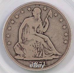 1871-cc Assis Liberté Demi-dollar Pcgs Vg08 Pittman Arbre Généalogique