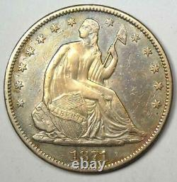 1871-cc Sièged Liberty Half Dollar 50c Carson City Coin Xf Détails (ef)