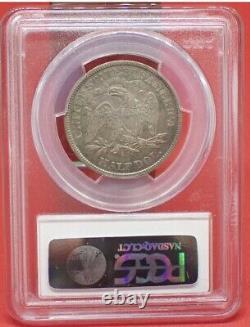 1872 CC Assis Liberté Demi-dollar. Pcgs Xf40. Moins De 250 Connu. Très Rare