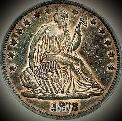 1872 Libre Assise Demi Dollar Pcgs Xf45