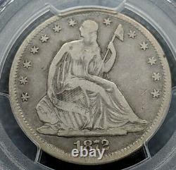 1872-cc Seated Liberty Demi-dollar Pcgs Vf20