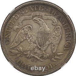1872-cc Seated Liberty Half Dollar Ngc Vf-35 Tough