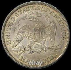 1873 Argent États-unis Assis Liberty Demi-dollar Pièce De Monnaie Avec Des Flèches Au