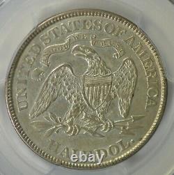 1873 Assis Demi-dollar, Flèches, Pcgs Au50