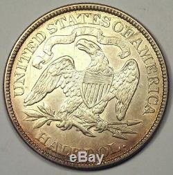 1873 Flèches Assis Liberté Demi-dollar 50c Coin De Nice Choice Au Rare Coin
