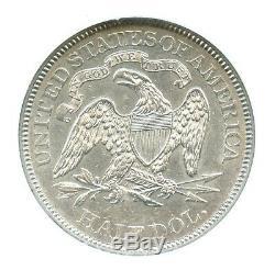 1873 Flèches Liberté Assis Demi-dollar, Ngc Au58, Type De Qualité Coin