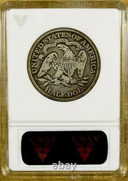 1873-cc Flèches Anacs Vg08 Assise Demi-dollar Ouvert 3 Petit CC Meilleure Date