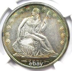 1874 Arrows Seated Liberty Half Dollar 50c Rainbow Tone Coin Ngc Au Détails