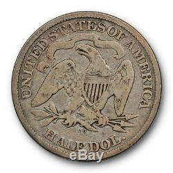1874 CC Assis Liberté Demi-dollar Très Bon Vg Carson City Mint