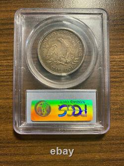 1874-p Assis Liberty Silver Demi Dollar Pcgs Xf 45 Type 6, Avec Devise, Flèches