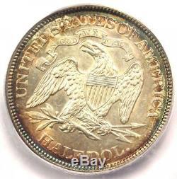 1875 La Moitié Liberté Assis Dollar 50c Certifié Icg Ms64 (bu) $ 1 500 Valeur
