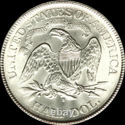 1875 S Assis Liberté Demi-dollar Mme Gem