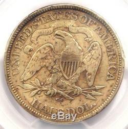 1875-cc Assis Liberté Demi-dollar 50c Coin Certifié Pcgs Vf Détails