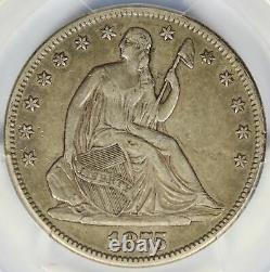 1875-cc Seated Liberty Demi-dollar 50c Pcgs Xf40