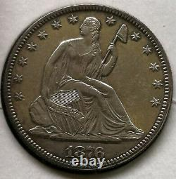1876 Seated Liberty Demi-dollar 50c Presque Non Circulé Détails Type Pièce