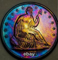 1876 Unc++ Seated Liberty Demi Dollar Key Date / Very Proof Like Looks. 288