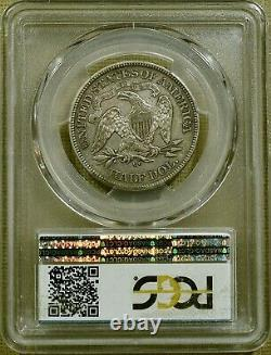 1876-cc Pcgs Xf45 Assis Demi-dollar Date Difficile