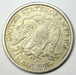 1876-cc Seated Liberty Half Dollar 50c Carson City Coin Vf / Xf Détails