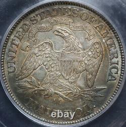 1876-cc Seated Liberty Half Dollar 50c Icg Ms 60 Détails Tonné