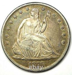 1876-cc Seated Liberty Half Dollar 50c Xf / Au Detail Rare Carson City Coin