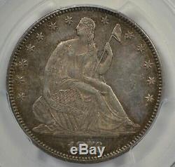 1876 dollar Seated Demi, Pcgs Au58