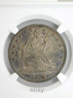 1876 la Moitié Seated Liberté Dollar Ngc Graded Xf 45 (127)