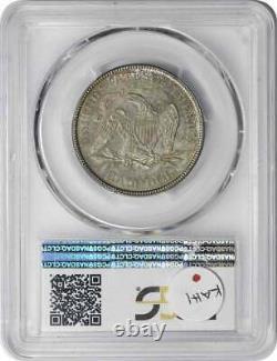 1876 liberté Assis Demi-dollar En Argent Au58 Pcgs
