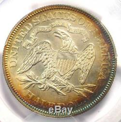 1876 proof Assis Liberté Demi-dollar 50c Pcgs Preuve Au Détails Rare Coin