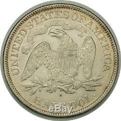 1876-s 50c Assis Liberté Demi-dollar En Argent Unc Condition Belle (080119)