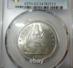 1876-s Assis Liberté Demi-dollar Pcgs Ms62 (support Sécurisé)