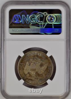 1877 S Liberty Assis Silver Half Dollar 50c Ngc Ms62 Uncirculate Rare Toned