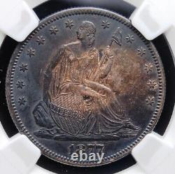 1877 S Seated Half Ngc Au 53 Deep Original Toned Peripheries Coppery Centers