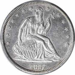1877-cc Liberté Assis Demi-dollar En Argent Ms61 Pcgs