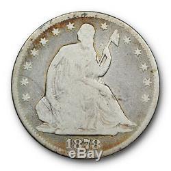 1878 CC Assis Liberté Demi-dollar Bonne G Carson City Mint Date De Clé