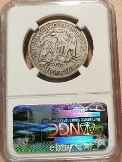 1878-cc Liberty Assis Demi-dollar Ngc Classé Vg10, Date Très Très Rare