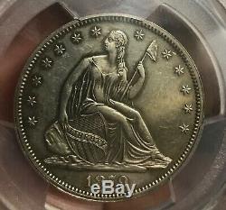 1879 Assis Demi-dollar Liberté, Au, Pcgs Pr58