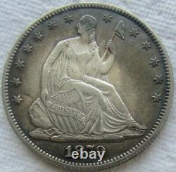 1879 Half Dollar Seated Liberté Très Rare Mintage 4.800 Nous Avons Les Dates Difficiles
