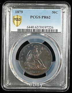 1879 Liberté Assise Demi-dollar Pcgs Pr62 Tough Date