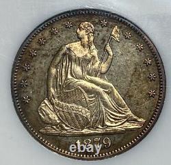 1879 Liberty Assis 50c Demi-dollar Avec La Devise Preuve Tonique