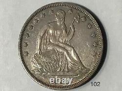 1880 Liberté Assise Demi-dollar
