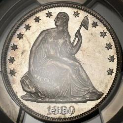 1880 Liberty Seated Half Dollar, Pcgs Ms62, Original Et Flashy! Davidkahnrarecoins