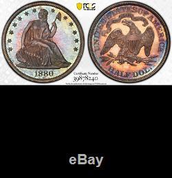 1880 Pcgs Pr65 + 1355 Mintage 8.400 Proof 2500 $ Cu Half Dollar Assis 50c