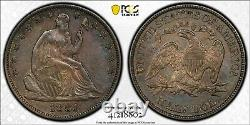 1881 50c Seated Liberty Demi-dollar Pcgs Xf 45 Witter Coin