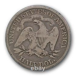 1881 50c Seated Liberty Half Dollar Good G Date De La Clé D'origine R352
