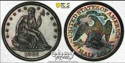 1881 Assis Liberty Half Dollar 50c Pcgs Pr60 Monster Rainbow Tonning