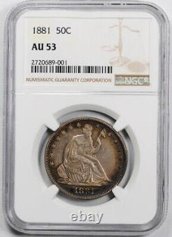 1881 Assis Liberty Half Dollar Ngc Au 53 About Uncirculated Toned