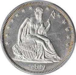 1881 Liberty Seated Argent Demi-dollar Ms63 Pcgs